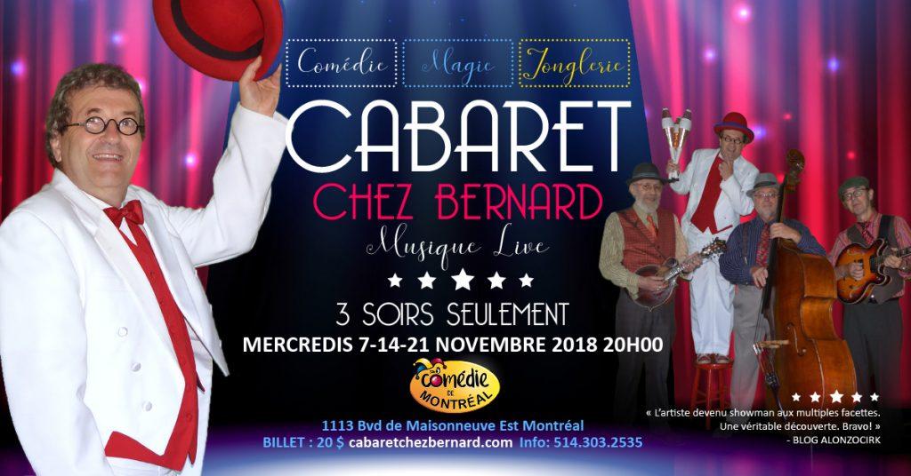 affiche Cabaret Chez Bernard - Bernard Lebel