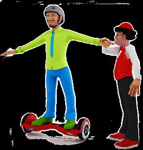 Gabzy hoverboard droite - ateliers de cirque Ben et Gabzy