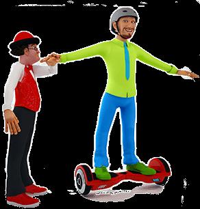 Gabzy hoverboard - ateliers de cirque Ben et Gabzy