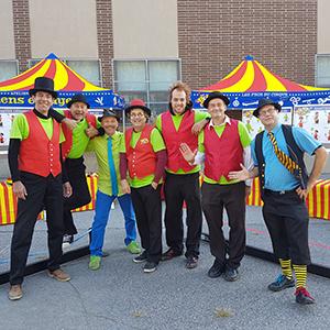 L'equipe des ateliers de cirque Ben et Gabzy