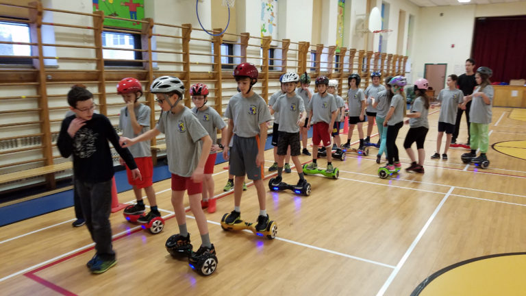 Hoverboard en groupe_